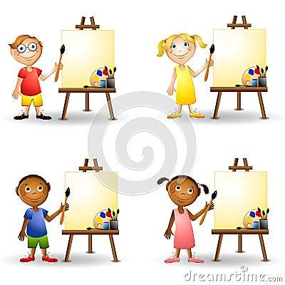 艺术画架孩子绘