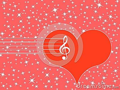 心脏的高音谱号和标志