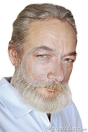 有灰色头发微笑的成人老人图片