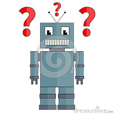 有問號的機器人圖片
