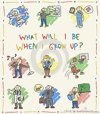 幼儿园儿童颜色乱画图画剪影