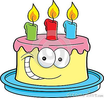 有生日蛋糕的动画片年长妇女