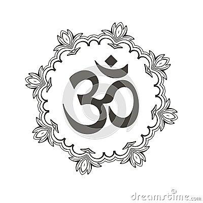瑜伽om符号图案纹身内容图片分享