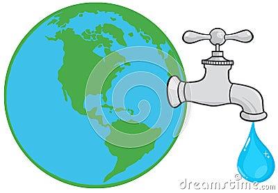 水龙头滴水卡通图片