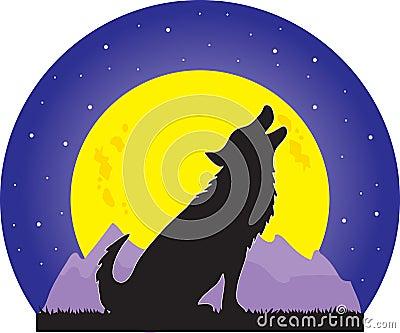 月亮狼 库存图片 - 图片