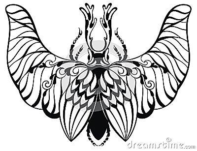 在纹身花刺样式的昆虫