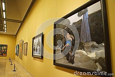 中国美术画廊是汇集,研究图片