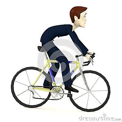 有老自行车的动画片女孩