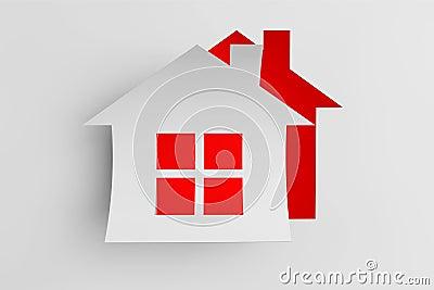 海绵纸房子贴画