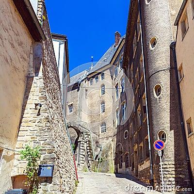 中世纪街道都市风景,卢森堡