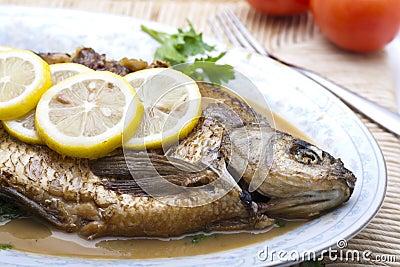 煮熟的鱼 库存图片 - 图片