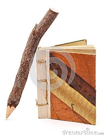 自然笔记本铅笔
