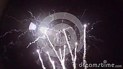 † 1280†x†† 720 List-Feuerwerke pyrotechnie Frankreich stock video footage