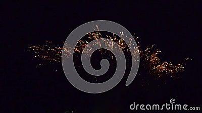 † 1280†x†† 720 List-Feuerwerke pyrotechnie Frankreich stock video