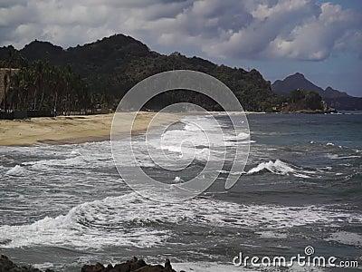 一个华美的风景看法海洋海岸 股票视频