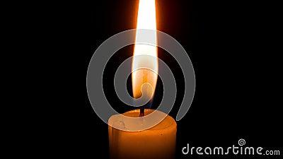一个蜡烛烧timelapse