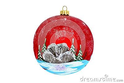 一棵新年树的圣诞节首饰