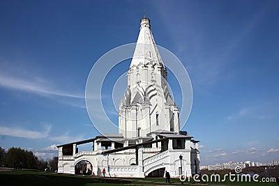 上生的教会。俄罗斯,莫斯科