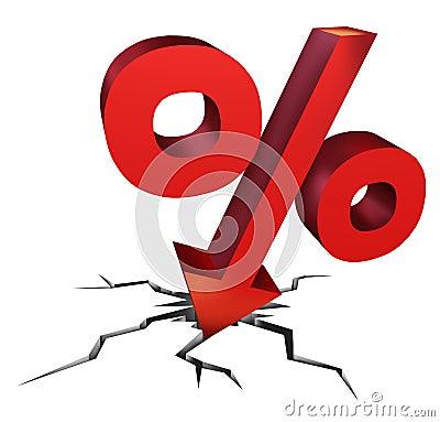 箭头作为背景坏是失败决策拒绝在经济下跌的利息投资货币被支付的图片