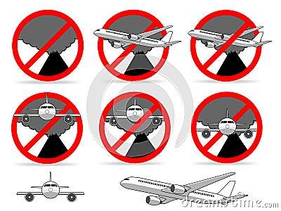 不要飞行火山区域