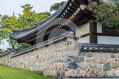 韩国很草_与历史的设计largs石墙的韩国传统建筑零件