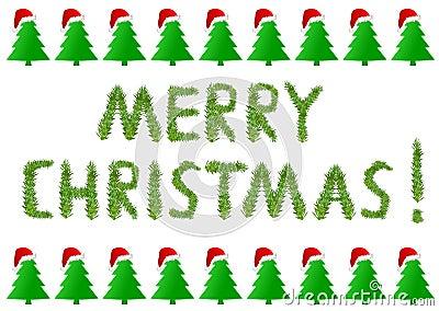 与圣诞树的圣诞快乐