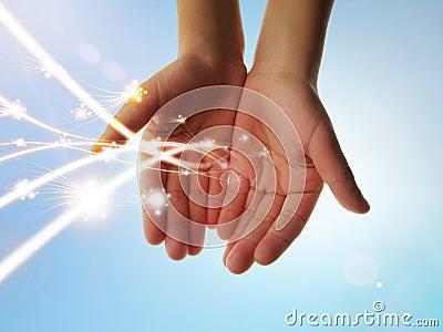 与导致的光的Eco能源