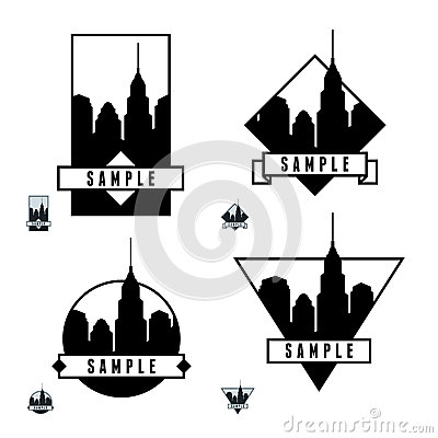 与摩天大楼的标签