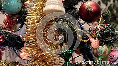 与玩具的圣诞树 股票录像