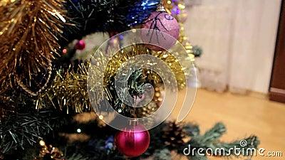 与玩具的圣诞树 股票视频