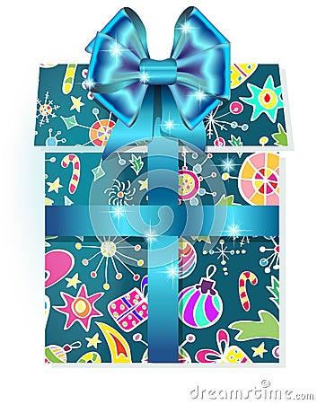 与节假日模式的礼物盒