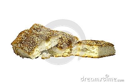 与芝麻籽的面包