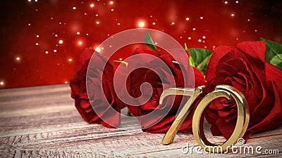 与英国兰开斯特家族族徽的无缝的圈生日背景在木书桌上 第十七个生日 第70 3d回报