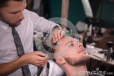 芳飞剪发网女人理发刮脸刮胡子