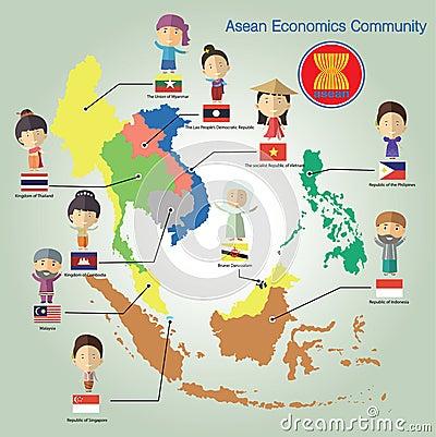 东南亚国家_东南亚国家联盟经济公共(aec) eps10格式