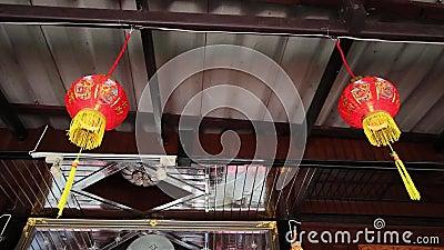 中国灯笼 fastive春节的 股票录像