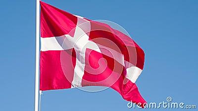 丹麦的状态旗子 影视素材