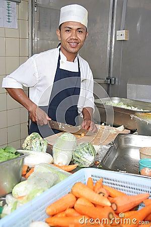 主厨剪切蔬菜