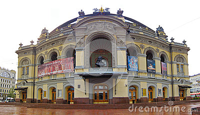 乌克兰,基辅的国家歌剧院 图库摄影片