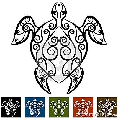 纹身花刺部族乌龟