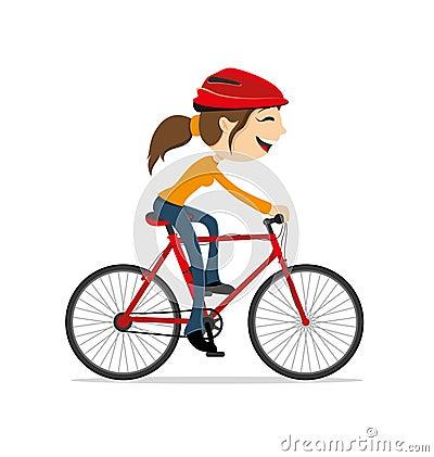乘坐自行车的妇女图片