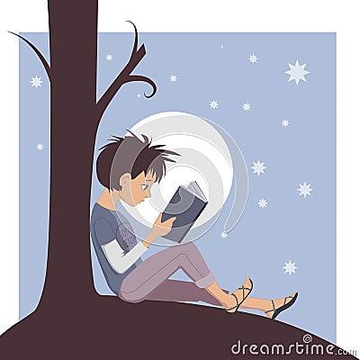 读书喜悦图片