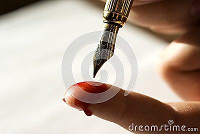 书面的血液