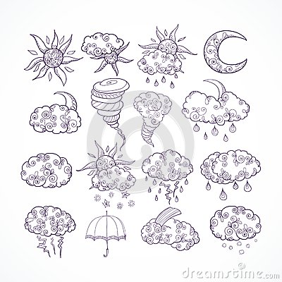 乱画天气预报图形符号图片
