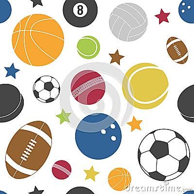 五颜六色的体育运动无缝的模式