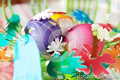 五颜六色的复活节彩蛋