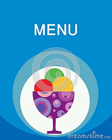 五颜六色的奶油色冰菜单鲜美模板
