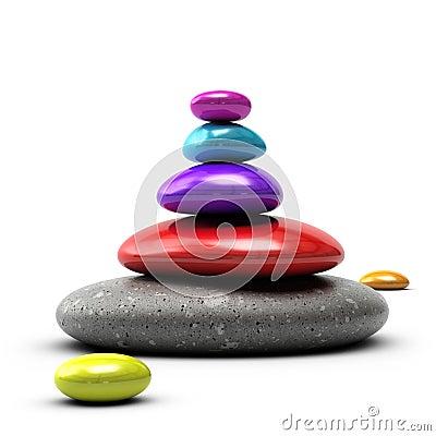 五颜六色的小卵石