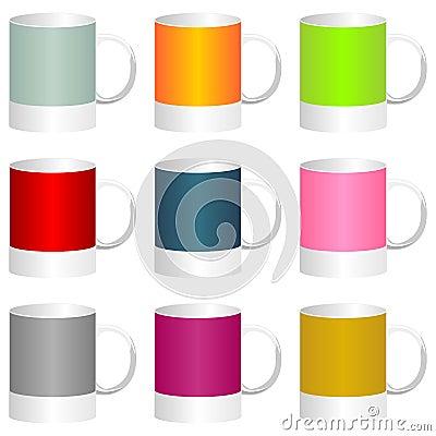 五颜六色的杯子