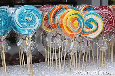 五颜六色的棒棒糖